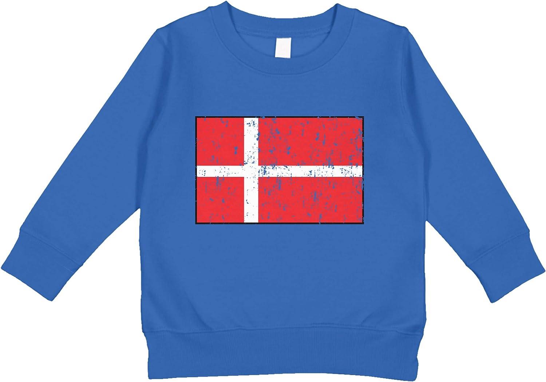 Amdesco Denmark Flag Danish Toddler Sweatshirt