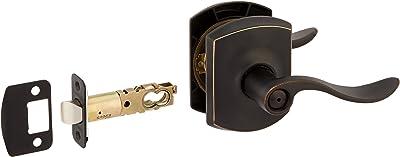 Schlage F51A ACC 716 ADD C Addison Deco Rose Keyed Entry Door Lock Aged Bronze