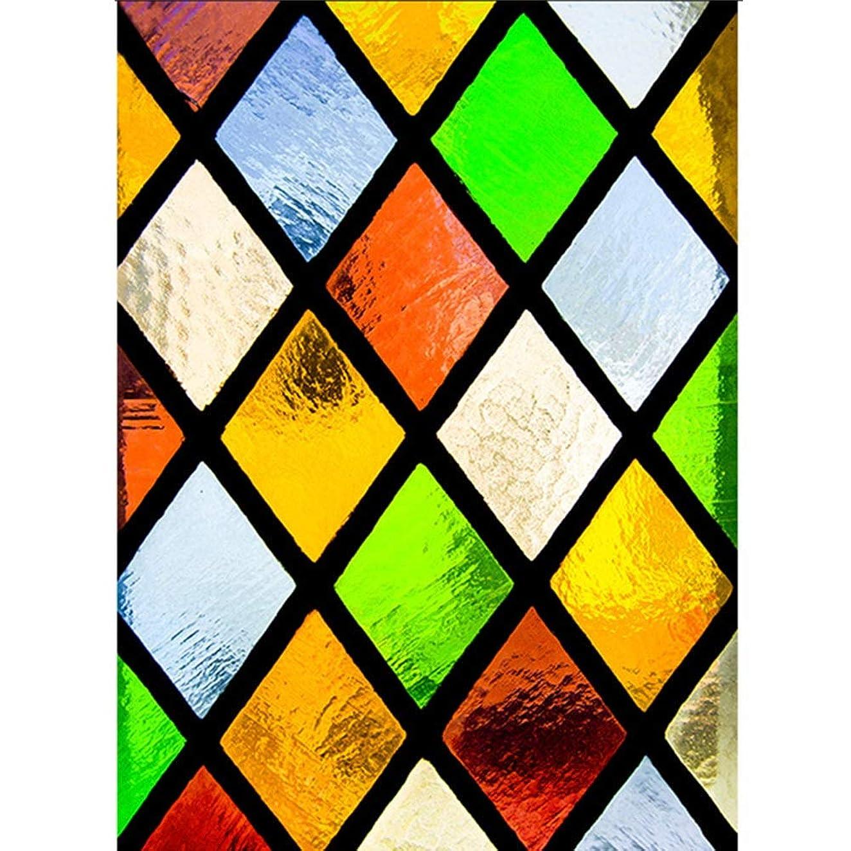 ゲージ眠っている債務HANSHAN 窓フィルム 装飾的な窓のフィルム、接着剤なしの静的なプライバシー保護窓フィルムガラスステッカー非接着剤熱制御家庭用浴室80×120 Cm (Color : A, Size : 80 × 120cm)