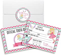 Official Tooth Fairy Receipts for Girls, Ten 3.5