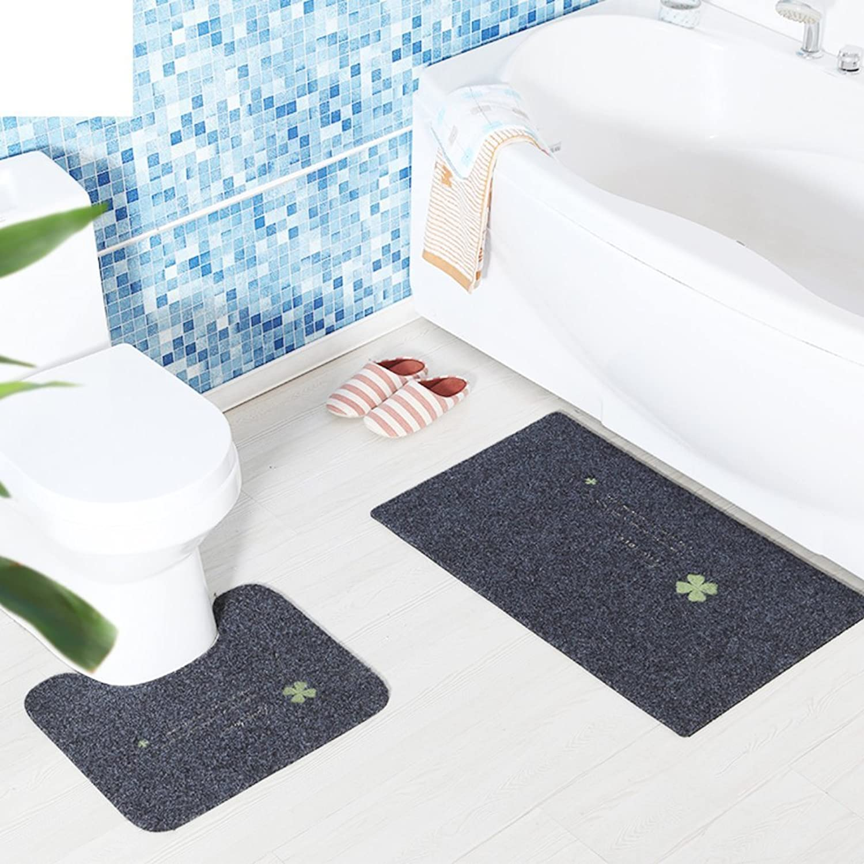 DIDIDD Restroom Ufloor Mat Waterbsorption Antikid Door Mat Doormat a