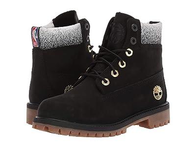 Timberland Kids 6 Premium Waterproof Boot Toronto Raptors (Big Kid) (Black Nubuck) Kids Shoes