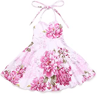 Flofallzique Vintage Floral Girls Dress for 1-12 Years Old Party Toddler Sundress