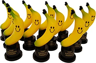 Plastic Gold Trophies, Oscar Trophy, Thumbs Up Trophy, High Five Trophy, Youre #1 Trophy, Star Trophy, Banana Trophy, Rock Star Trophy, by Playscene