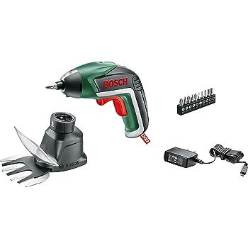 Bosch Jardín 06039A800A - Atornillador de litio IXO V (3,6 V, 1,5 Ah, 10 puntas, cargador Micro-USB, caja de cartón, accesorio para hierba y matorrales): Amazon.es: Bricolaje y herramientas