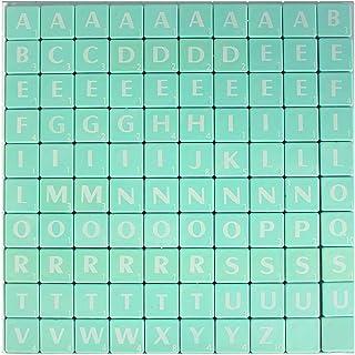 Trimming Shop 100Pcs 1.9cm Alphabets Carreaux Noir avec des Lettres Blanc–Idéal pour de Remplacement, Arts et Artisana...
