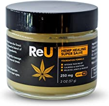 ReU Hemp Healing Pain Relief Salve - 250MG Organic Hemp Extract Cream with Pure Natural Essential Oils - Relieves Inflammation, Muscle, Joint, Back, Knee, Nerve Pain - Made in USA (2 oz)