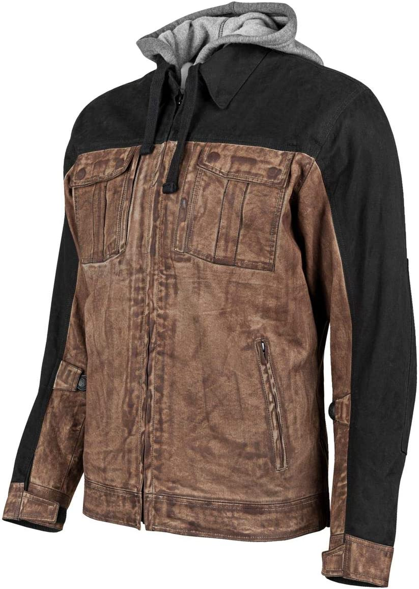 Brown//Small Speed and Strength Rough Neck Mens Street Motorcycle Jackets
