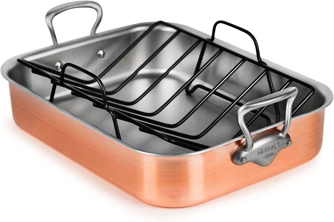 Mauviel Brushed Copper Roasting Ranking TOP14 Pan in Made Fees free France - Stainless