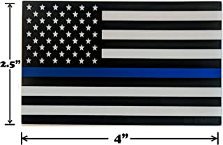Spy Spot Thin Blue Line Black White and Blue Flag Decal Car Stickers American Flag Support Police and Law Enforcement UV Resistant Weatherproof 4