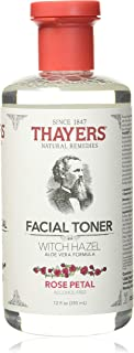 Thayers Facial Toner, Witch Hazel with Aloe Vera, Rose Petal, 12 Fl Oz