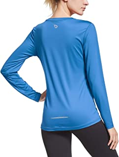 BALEAF Women's Long Sleeve T-Shirt Quick Dry Running Workout Shirts