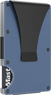 Slim Minimalist Front Pocket RFID Blocking Metal Wallets for Men with Money Clip (Navy)