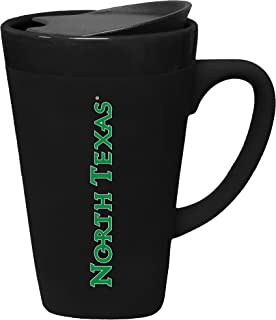 The Fanatic Group University of North Texas Porcelain Mug with Swivel Lid, Design 2