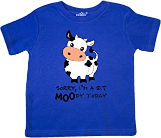 Sorry, I'm a Bit Moody Today Cute Cow Pun Toddler T-Shirt