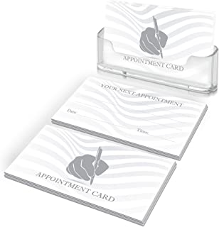 """250 (200+50 bonus) Appointment Reminder Cards - This Appointment Cards are printed on THICK card stock, standard appointment card size 2""""x 3.5"""". For Beauty Salon, Dental Office and other businesses."""