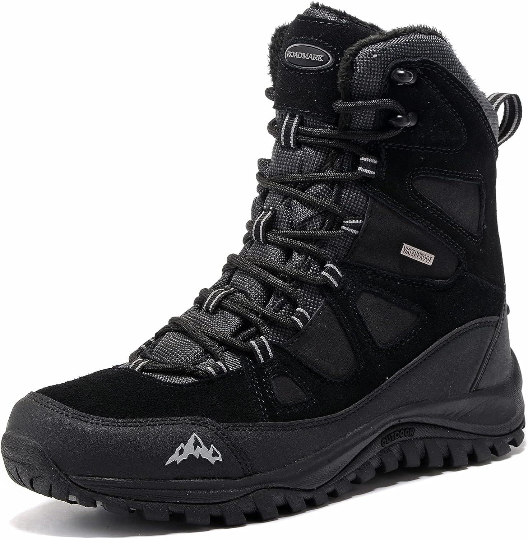 ROCKMARK Men's Winter Waterproof Ranking TOP7 Snow Hiking Boots Resista Water Austin Mall
