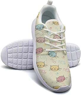 Persian Cat and Sphynx Play Ball Sneakers for Women spring Highly Breathable Running Shoes Girls