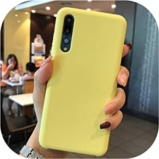 Official Style Silicone Case for Huawei Mate 20 10 for P20 P30 Pro lite Original Cover for Honor 10 V10 7X 8X 8C 9 lite Phone Case,Yellow,for Mate 20 Pro