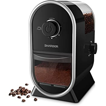 SHARDOR Electric Burr Coffee Grinder Mill 2.0 with 14 Adjustable Grinding, Coffee Grinders with 2-12 Cup, Black