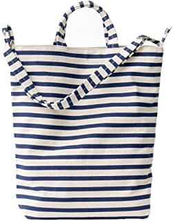 Duck Bag Canvas Tote, Essential Everyday Tote, Spacious and Roomy, Sailor Stripe (2018)