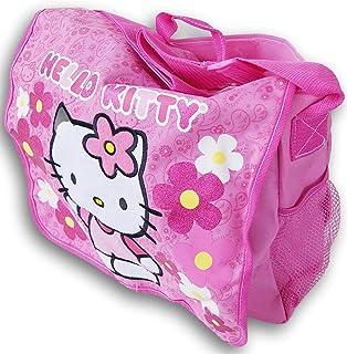 Hello Kitty Themed Shoulder Strap Messenger Bag for Books, Laptop, Office Work - 14'' L x 11.5'' H x 4'' D - Glitter Pink ...