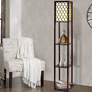 Artiss Floor Lamp Mordern Reading Light Stand Wood Shelf Standing Storage Display Organiser Home Furniture Decor Living Ro...