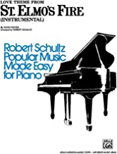 St. Elmo's Fire, Love Theme from (Instrumental) Sheet Piano By David Foster / arr. Robert Schultz