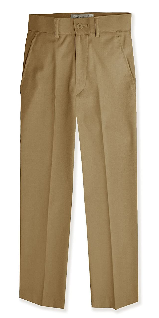 Johnnie Lene Boys Flat Front Slacks Slim Fit Dress Pants