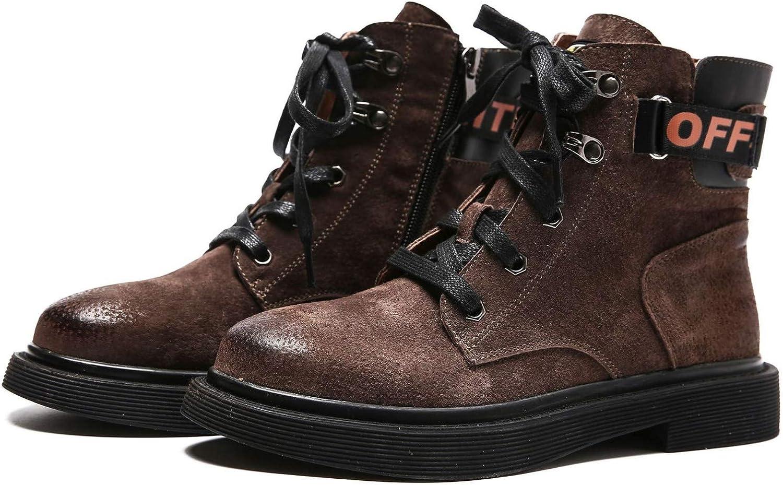 Top Shishang Leder Stiefeletten Martin Stiefel Stiefel flachen Boden Wilden Retro, B, 39  Werksverkauf