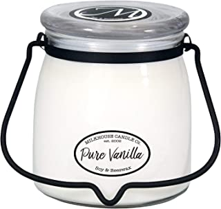 Milkhouse Candle Creamery Scented Soy Candle: Butter Jar Candle, Pure Vanilla, 16-Ounce