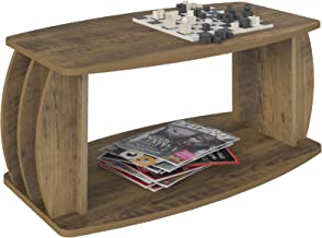 Artely Caribe Coffee Table, Brown - H 37 cm x W 86 cm x D 45 cm