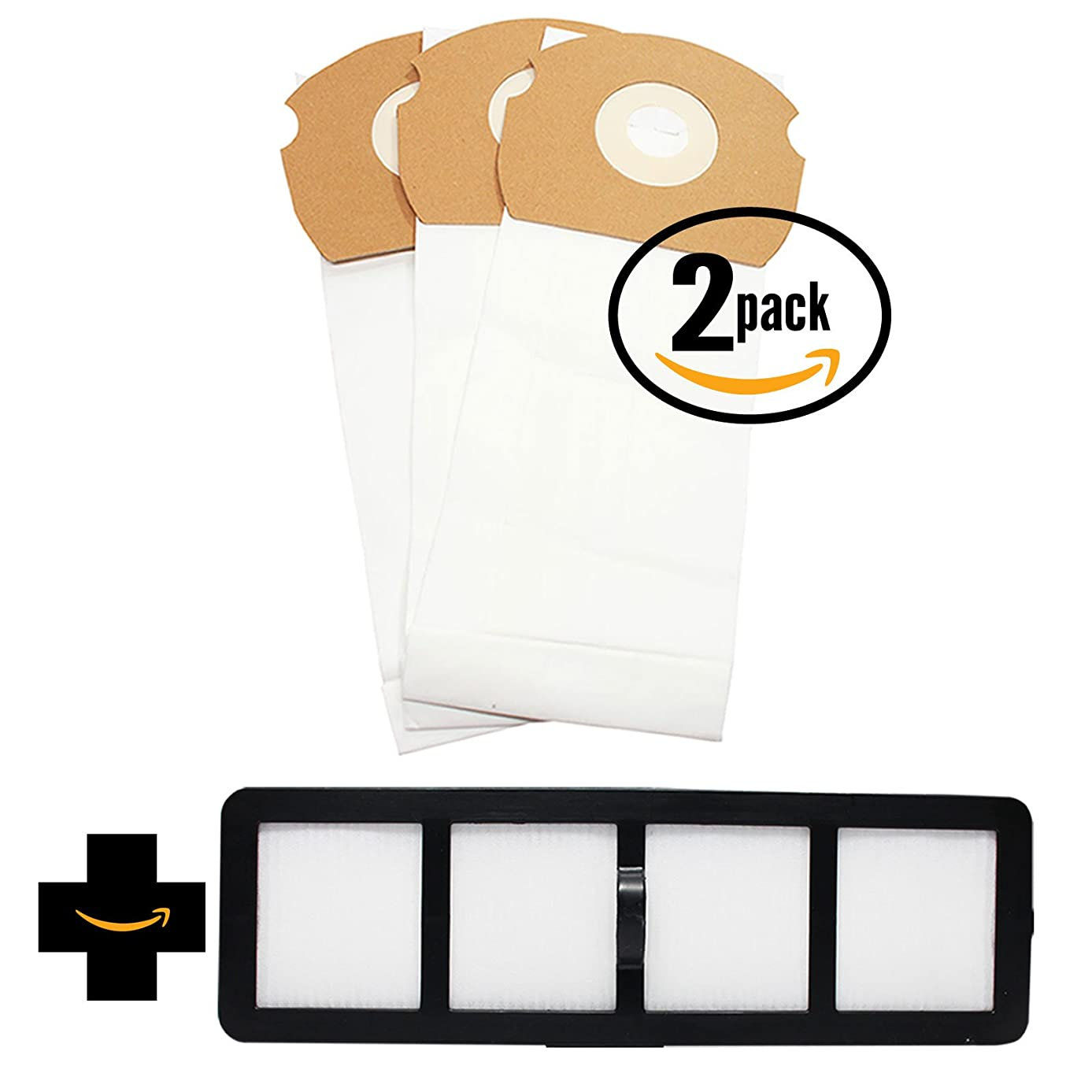 6 Replacement AS Vacuum Bags 68155 & EF-6 Filter 69963 for Eureka - Compatible with Eureka AirSpeed AS1000A, Eureka AS1000A, Eureka AS1001A, Eureka AS1051A, DCF-21 Dust Cup Filter, Eureka AS1050, Eureka AS1053AX, Eureka AirSpeed Gold AS1001A, Eureka AirSpeed AS1050