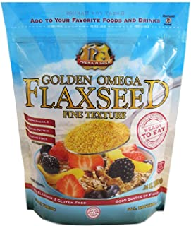 Premium Gold Ground Flax Seed | High Fiber Food | Omega 3 | 24oz