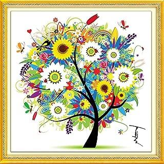 DIY Cross Stitch Kits Handmade Needlework Embroidery Kits Colorful Tree Home Decoration Summer Season