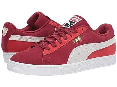PUMA Suede Classic (Rhubarb/Puma White/High Risk Red) Shoes