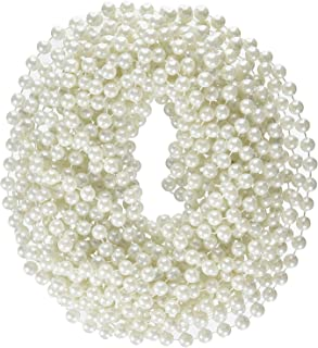Rhode Island Novelty 48-Inch 12mm Faux Pearl Necklace White Pack of 12