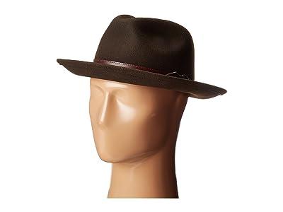Country Gentleman Dunmore Classic Wool Fedora Hat (Beaver) Caps