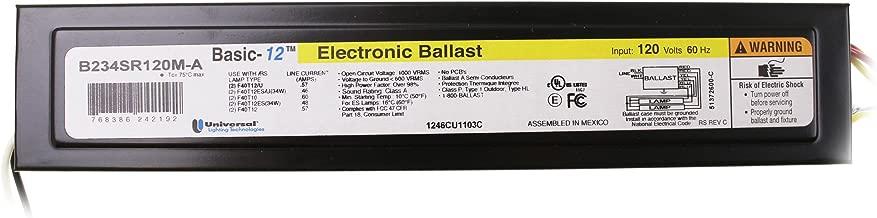 Universal Basic 12 B234SR120MA (2) Lamp - F40T12 or F34T12 - 120 Volt - Rapid Start - 0.9 Ballast Factor