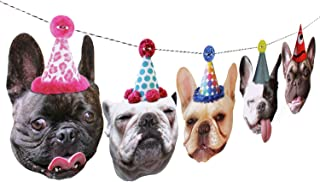 French Bulldog Garland, frenchie dog birthday party decoration banner