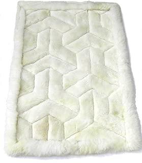 Alpakaandmore Alpaca Fur Rug Boomerang Design Handmade Different Sizes 35.5 X 23.6 Inch/ 90 X 60 Cm (35.5 x 23.6 Inch/ 90 x 60 cm)