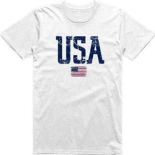 Quantitees Patriotic Distressed USA Flag Vintage Style Classic T-Shirt