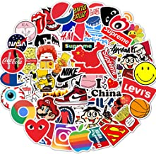Fashion Brand Laptop Stickers Logo - Decals Vinyl Waterproof for Water Bottle Cars Motorcycle Bicycle Bumper Skateboard Luggage iPad Phone Case DIY Decoration Gift 88 pcs