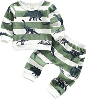 0-24 Months Baby Boy Clothes Set Plaid Deer Print Long Sleeve Pullover Shirt and Pants 2Pcs Christmas Outfits