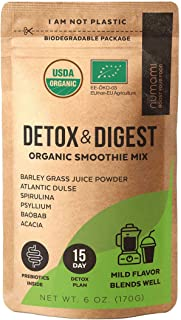 Organic Detox and Prebiotic Powder for Ultimate Detoxification and Digestive Support with Superfoods for Full Body Restart