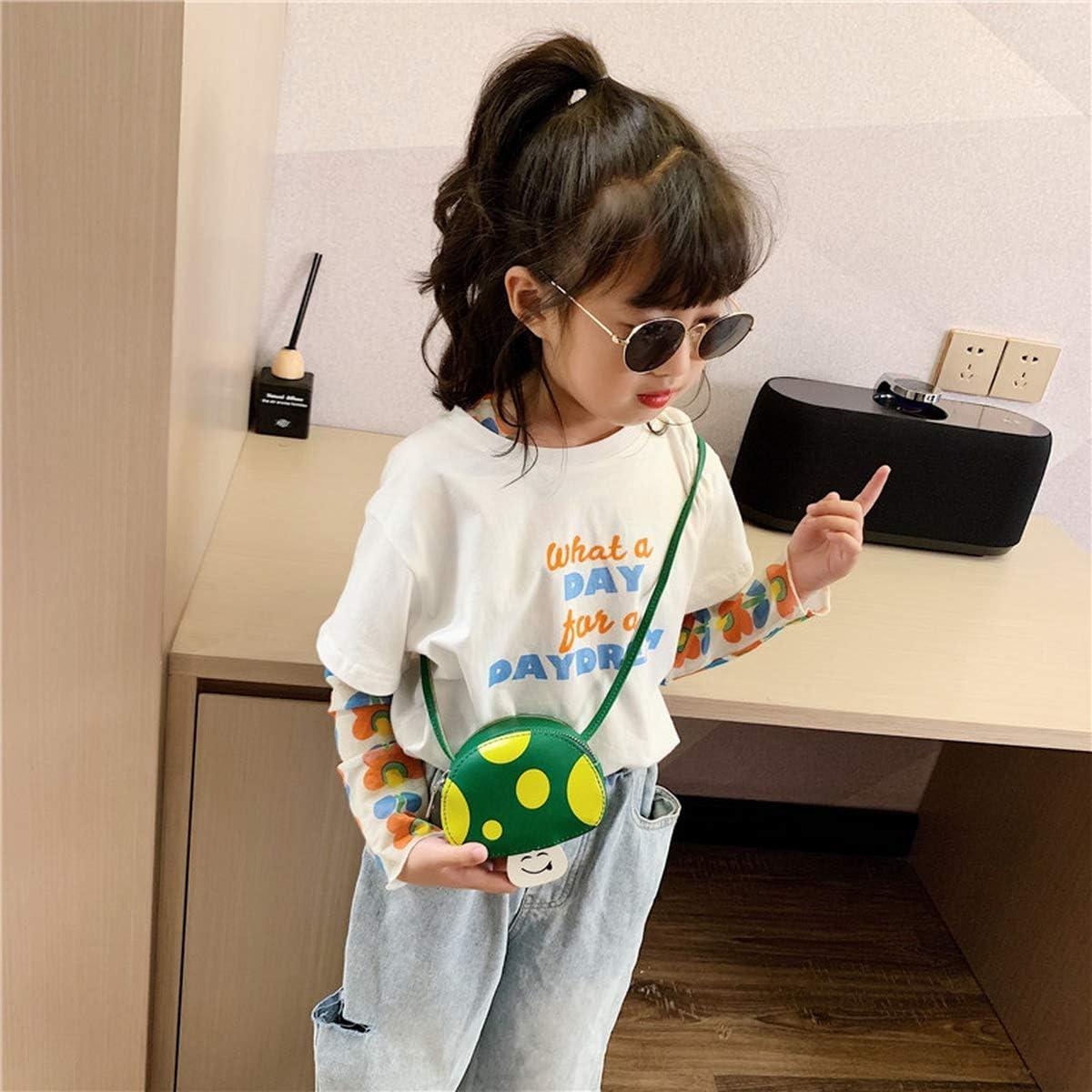 Little Girls Crossbody Shoulder Bag Casual Mushrooms Handbag Cute Purse for kids