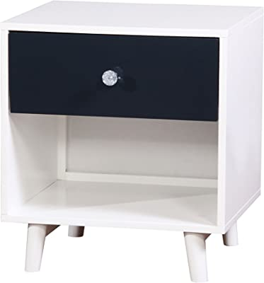 HOMES: Inside + Out ioHOMES Caprica Contemporary Youth Nightstand, Blue/White
