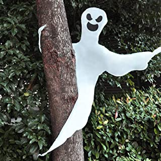 """JOYIN 53"""" Halloween Bendable Tree Wrap Ghost for Halloween Decorations and Ghost Party Supplies"""
