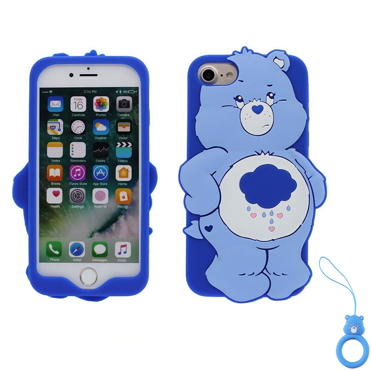 Artbling Case for iPhone 7 8 SE 2020,Silicone 3D Cartoon Animal Cover,Kids Girls Cool Cute Cases,Kawaii Soft Gel Rubber Unique Character ...
