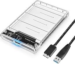 Posugear Unidad de disco duro con cable USB 3.0 de 5 Gbps compatible con UASP para (SSD SATA I / II / III HDD de 9,5 mm y 7 mm) 2,5 pulgadas Transparente